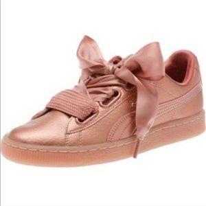 Puma x Fenty by Rihanna copper rose sneakers sz 8